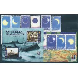 1999 ALDERNEY ANNATA COMPLETA  14 VAL E 2 BF  -  NUOVI MNH MF19199