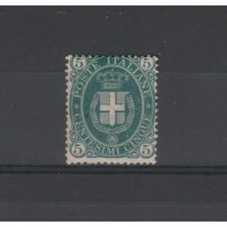 1889 REGNO 5 CENTESIMI VERDE SCURO 1 VALORE NUOVO MNH MF19185