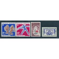 1963 POLINESIA FRANCESE ANNATA COMPLETA  4 VALORI MNH MF40220