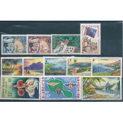 1964 POLINESIA FRANCESE ANNATA COMPLETA  12 VALORI MNH MF40221