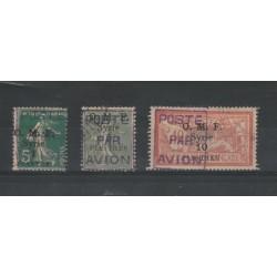SIRIA 1920  P O  SOVRASTAMPATA POSTE PAR AVION  3 VAL USATI  MF19074