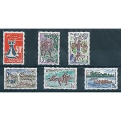 1967 POLINESIA FRANCESE ANNATA COMPLETA  6  VALORI MNH MF40224