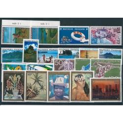 1974  POLINESIA FRANCESE ANNATA COMPLETA  20  VALORI MNH MF40226