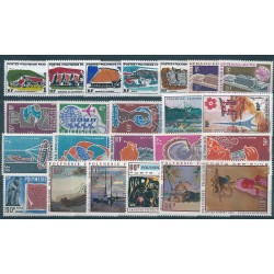 1970  POLINESIA FRANCESE ANNATA COMPLETA  23 VALORI MNH MF40231