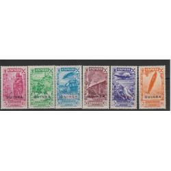 GUINEA  SPAGNOLA 1943  BENEFICENZA DI SPAGNA  6 VAL YVERT 12-17  MNH MF19136