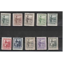 GUINEA  SPAGNOLA 1934 - 41 SOGGETTI VARI   10 VAL MNH MF19123