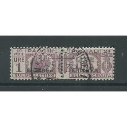 1927-37 ERITREA PACCHI POSTALI 1 LIRA SASS N 27 USATO MF40281