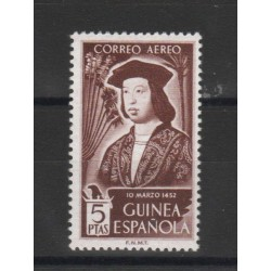 GUINEA  SPAGNOLA 1952 FERDINANDO IL  CATTOLICO  1 VAL  MNH YVERT  PA N 22  MF19126