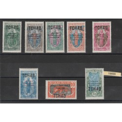 TCHAD 1925-28 SOGGETTI VARI  SOVRASTAMPATA 8 VAL MLH MF19566