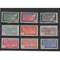 TOGO 1928-38 VEDUTA NUOVI VALORI 9 V MLH YVERT 153/60 MF19550