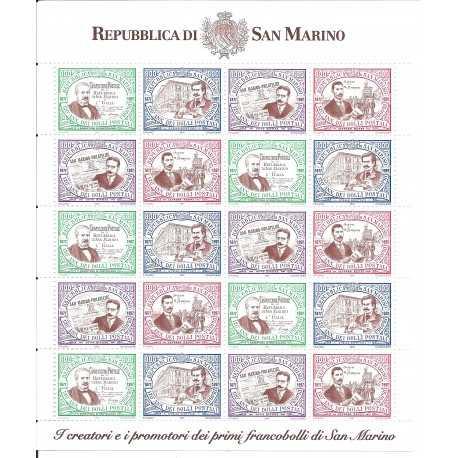 1997 SAN MARINO 120 ANNIVERSARIO FRANCOBOLLO SAN MARINO 1 MINIFOGLIO MNH MF24519