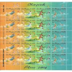 2004 SAN MARINO OLIMPIADI ATENE 1 MINIFOGLIO NUOVO MNH MF24541
