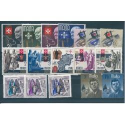 1966 MALTA ANNATA COMPLETA  17 VALORI NUOVI MNH MF24616