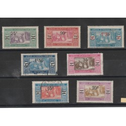 SENEGAL 1924-27  SOPRASTAMPATI  7 VAL  MISTI MF19527