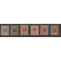 SENEGAL 1912  SOPRASTAMPATI  6 VAL MNH MF19528