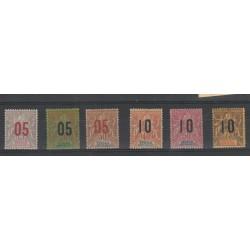 SENEGAL 1912  SOPRASTAMPATI  6 VAL MLH MF19524