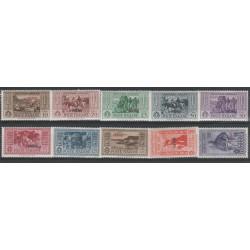 1932 ISOLE EGEO PATMO SERIE GARIBALDI 10 VALORI NUOVI  MLH MF19483
