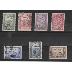 1933 GRECIA GREECE  SOGGETTI VARI  7 VALORI USATI  MF19472