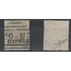 1880 CIPRO CYPRUS REGINA VITTORIA SOPRAST GRIGIO OLIVA  1 VAL SG SORANI  MF19465