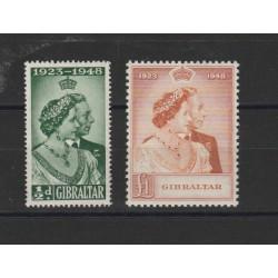 1953  GIBILTERRA GIORGIO VI NOZZE 2 V  UNIF 119-20 MF 19462