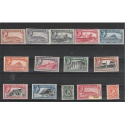 1938-51 GIBILTERRA GIORGIO VI SOGGETTI VARI  14V  MLH UNIF 103-16 MF 19462