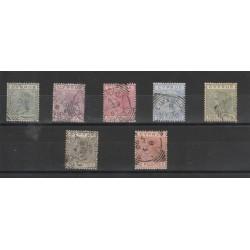 1882-86 CIPRO REGINA VITTORIA  UNIF 16-22 7 VAL USATI MF19458