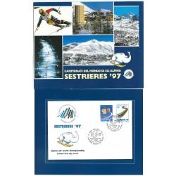 1997 FOLDER BOLAFFI CAMPIONATI DEL MONDO DI SCI ALPINO MF24776