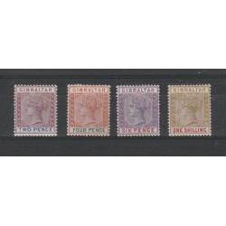 1898 GIBILTERRA  REGINA  VITTORIA 4 V MLH UNIF 33-36 MF19443