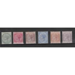1886 GIBILTERRA  REG VITTORIA RIQUADRI VARI 6 V MLH UNIF 8-13MF19440