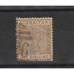 1886 GIBILTERRA  REG VITTORIA 1 VAL USATO  UNIF 14 MF19437