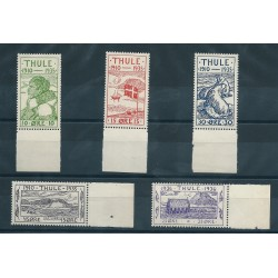 1935/36 GROENLANDIA THULE SOGGETTI VARI 5 VALORI NUOVI MNH MF24808