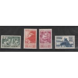 ALGERIE ALGERIA 1946 PRO OPERE SOCIALI  4  VAL  MNH YVERT 249/52 MF19304