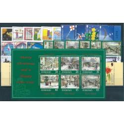 2000 GUERNSEY ANNATA COMPLETA 35 VALORI E 1 BF NUOVI MNH MF40476