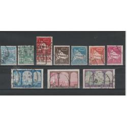 ALGERIE ALGERIA 1927-30  COLORI CAMBIATI  10 VAL USATI  YVERT 78-85 MF19305