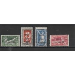 1924 SIRIA SYRIE SERIE OLIMPIADI 4 V MLH YV 122-25 MF19274