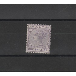 1885 MALTA  REGINA VITTORIA  1 VAL MNH UNIF 10  MF19223
