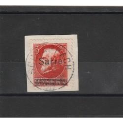 SARRE 1920 SOPRASTAMPATI 1 V USATO UNIF  29  MF19250