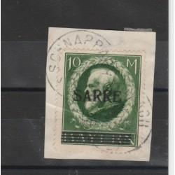 SARRE 1920 SOPRASTAMPATI 1 V USATO UNIF  31  MF19251