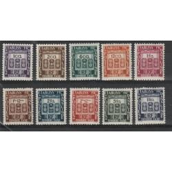INDIA FRANCESE 1948  TASSE 10 VAL MNH YVERT MF19262
