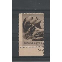 1938 MARLENE DIETRICH RARO ERINNOFILO CINEMA  ANNO XVII MF19637