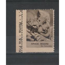 1938  GRACE MOORE  RARO ERINNOFILO CINEMA  ANNO XVII MF19632