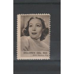 1938  DOLORES DEL RIO  RARO ERINNOFILO CINEMA  ANNO XVII MF19630