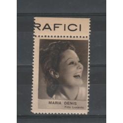 1938  MARIA DENIS  RARO ERINNOFILO CINEMA  ANNO XVII MF19633