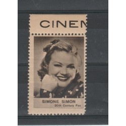 1938  SIMONE SIMON  RARO ERINNOFILO CINEMA  ANNO XVII MF19628