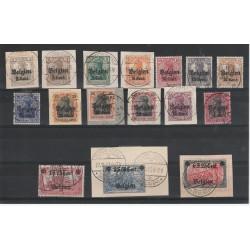 1916-18 GERMANIA OCCUPAZIONE DEL BELGIO 16 VAL UNIF 10-25 USATI  MF19617