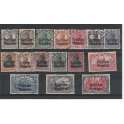 1919 GERMANIA OCCUPAZIONI SOPRASTAMPATI 16 VAL UNIF 136 - 51 USATI  MF19608