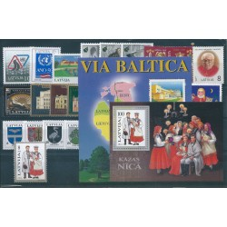1995 LETTONIA LATVIJA ANNATA COMPLETA 23 VALORI E 2 BF NUOVI MNH MF40508