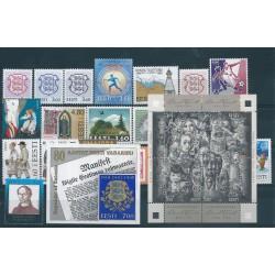 1998 ESTONIA EESTI ANNATA COMPLETA 21 VALORI E 2 BF NUOVI MNH MF40548