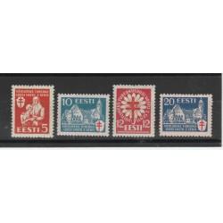 1933 ESTONIA EESTI  OPERE ANTITUBERCOLARI  4 VAL MLH MF19689