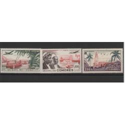 COMORES 1950-53  VEDUTE  3 VAL  MNH MF19680